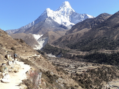 Trail Tengboche to Pangboche