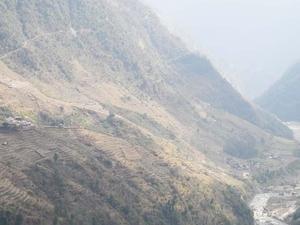Trail Tadapani to Chhomrong