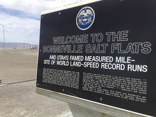 159 Square Miles Of Salt - Welcome Plaque