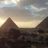 Sunset At The Great Pyramids Of Giza.