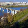 Nizhny Novgorod . Autumn View To Metro Bridge