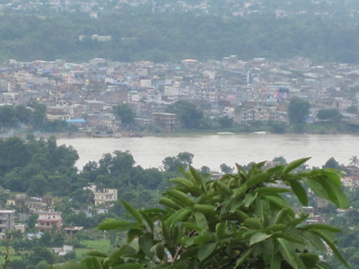Narayangarh City View From Maula Kalika Temple Gaindakot