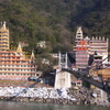 View Of Rishikesh Across The Laxman Jhula Bridge