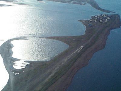 Aerial View Of Kivalina From The Northwest