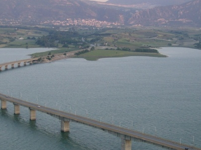 The Bridge Over The Polyfytos Artificial Lake