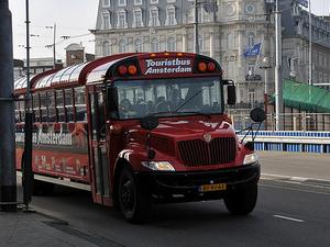 Amsterdam tourist bus Photos