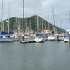 A Panorama Of Rodney Bay Marina Showing Pigeon Island