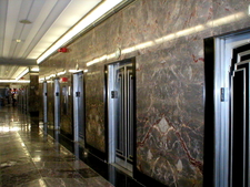 Art Deco Elevators In The Lobby