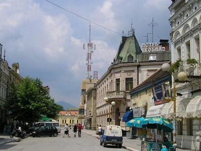 A Street In The Center Of Aak Serbia