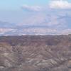A View Of The Badlands In The Granada Plateau Guadix Depression.