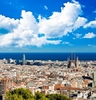 Barcelona Cityscape In Spain Catalonia