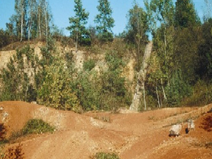 Bauxite-mine by Darvas-lake