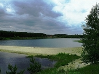 Bay in former Sand Mine of Myślin
