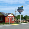 B&B Motel Signpost At Shoshoni