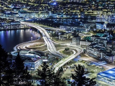Bergen Night View - Norway