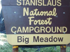 Stanislaus Big Meadow Campground