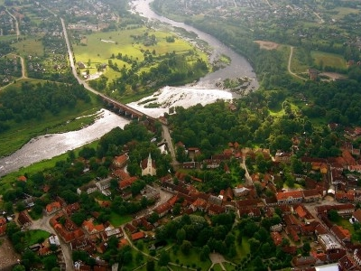 Bird's View Of Kuldīga