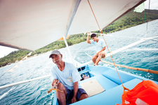 Boatman On Traditional Bunka Boat