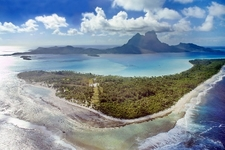 Bora Bora With Otemanu - Aerial View