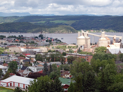 Borough Of La Baie In Blue In The City Of Saguenay