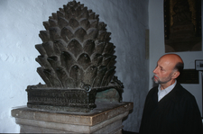 Bronze Pinecone In The Cathedral Narthex