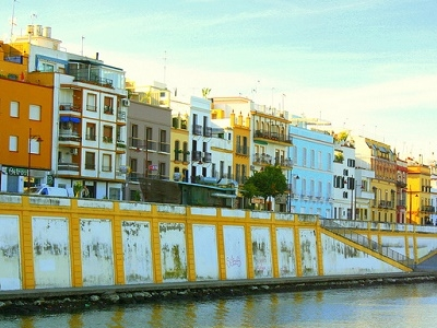 Buildings Alongside River Guadalquivir In Seville