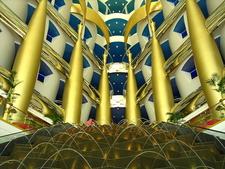 Burj Al Arab Inside Fountains At Main Entrance