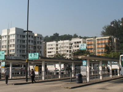 Bus  Terminal At  Mui  Wo
