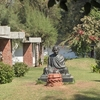 Bust Of Mahatma Gandhi At Ashram