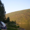 Camping By Barriere Lake British Columbia