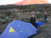 Camp On Machame Route To Mt. Kilimanjaro