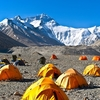 Camp Over Mount Qomolangma - Everest
