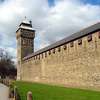 Cardiff Castle Walls And Clock Tower