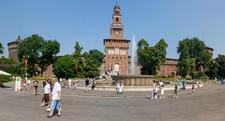 Castello Sforzesco Front In Milan