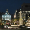 Christmas At Plaza De La Cibeles In Madrid