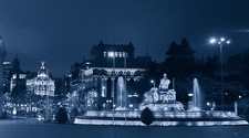 Cibeles Y Gran Via At Night - Madrid