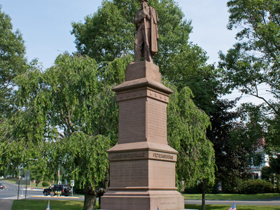 Civil War Soldiers Monument In The Town Center