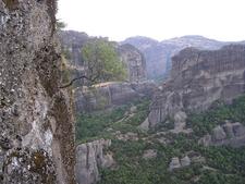 Coming Down Holy Trinity Monastery - Meteora