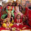 Costumed Hindu-girls In Nepal