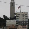 Coit Tower From A Below Street