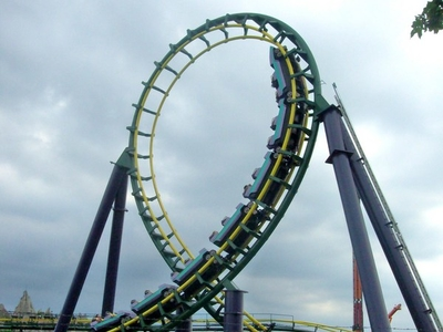 Dragon Fire Roller Coaster, Vaughan, Canada Tourist ...