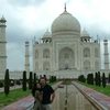 David And Ann At Taj Mahal