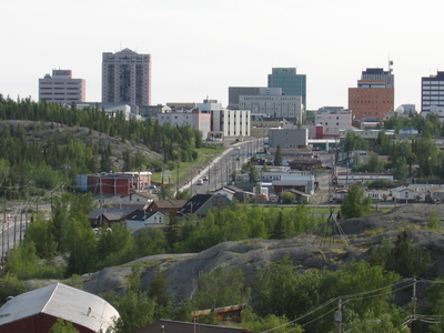Downtown Yellowknife