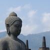 Main Statue Amid Perforated Stupas
