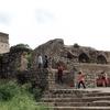 Visitors Climbing Golconda Fort