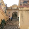 Steep Stairway At Amber