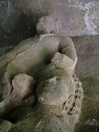 Reclining Idols Of Elephanta Caves