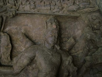 Elephanta Caves Rock Cut Shiva Statue