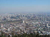 View Of Santiago From Mountains