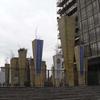 Pillar Sculptures & Stairway